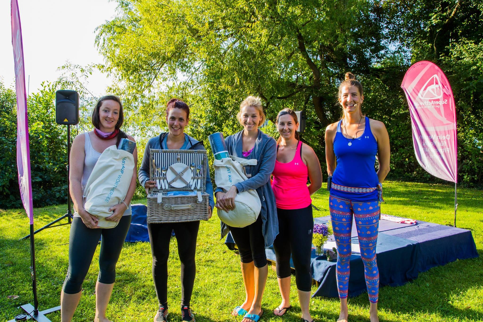 Superactive Gewinnerinnen - Danke Verival und Yoga am Wörthersee für die tollen Gewinne