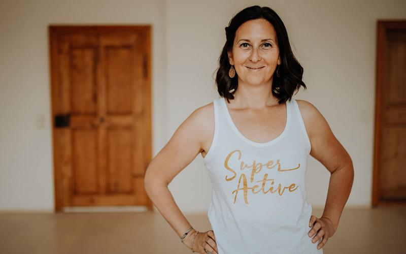 Geschäftsführerin und Yoga-Trainerin Sara Katu