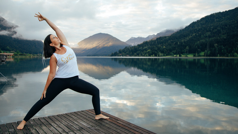 Yogatrainerin Sara bei den Yoga Bliss Days