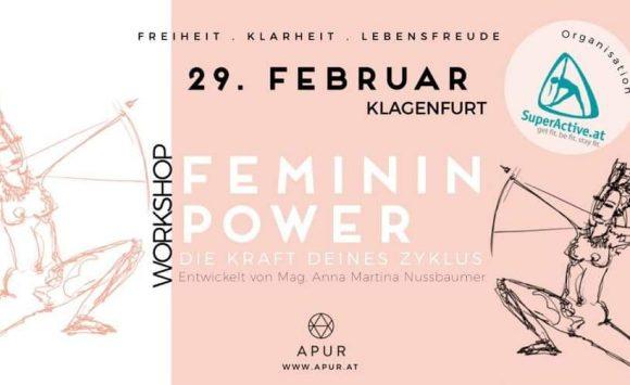 Feminin Power Workshop am 29. Feber 2020