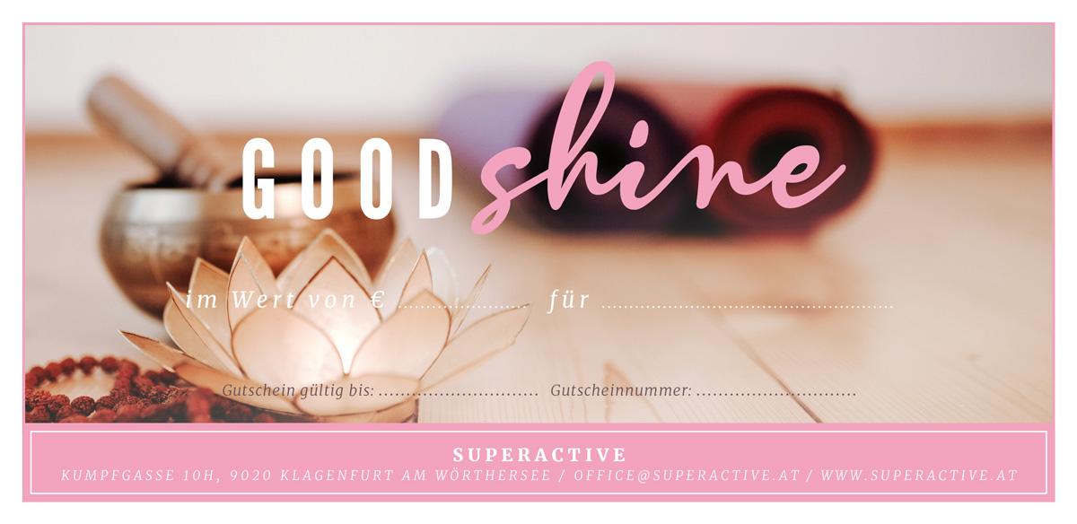Gutschein für Superactive Kurse