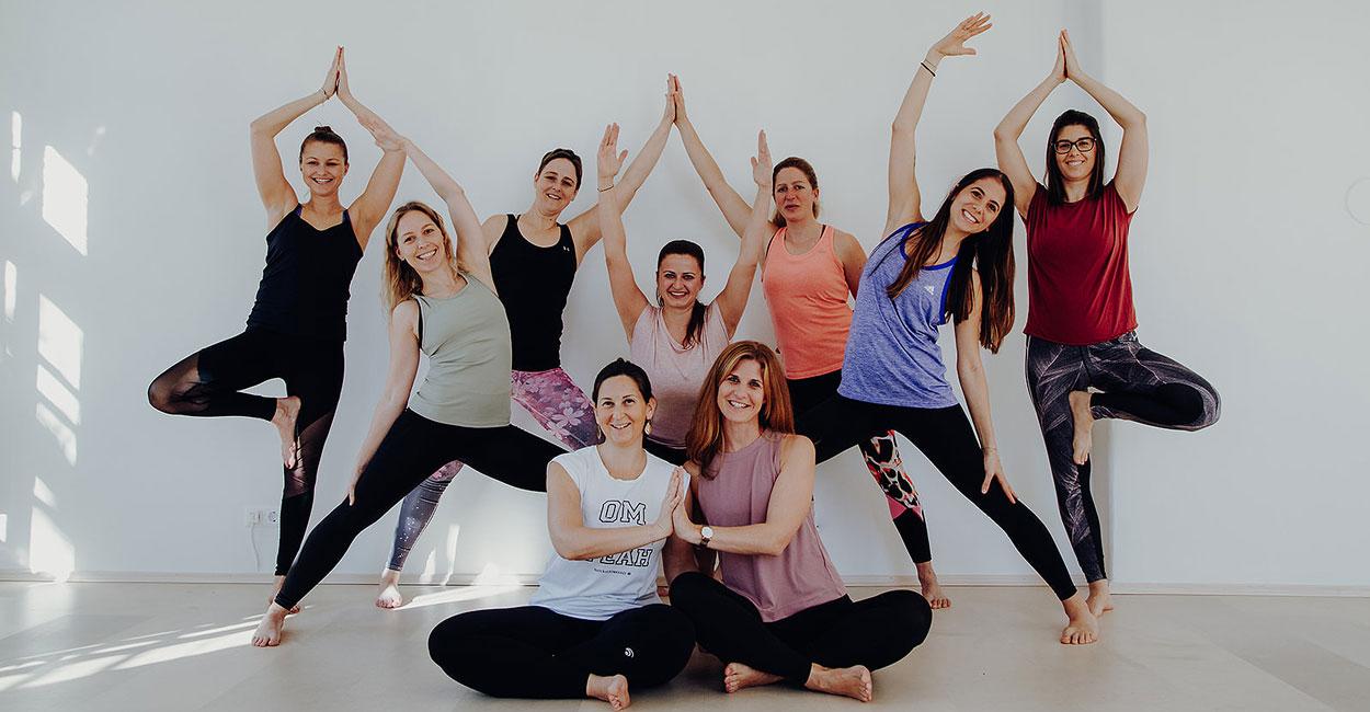 Die Yoga und Fitnesstrainerinnen des Vereins Superactive