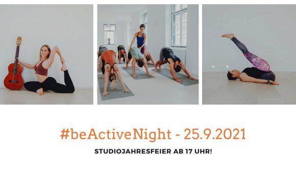 #BeActive Night – Studio Jahresfeier am 25. September 2021