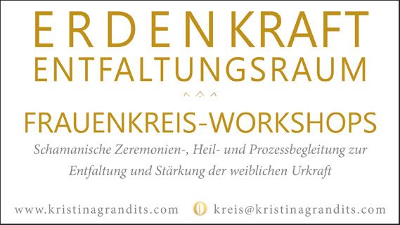 Workshopreihe: Erdenkraft – Entfaltungsraum am 30.12. & 27.02. & 12.06.