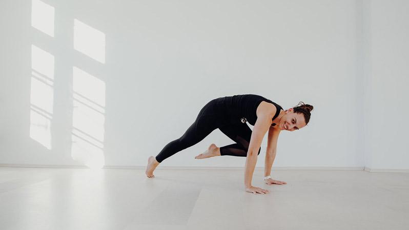 Trainerin Kerstin beim Deepwork Fitness im Superactive Studio