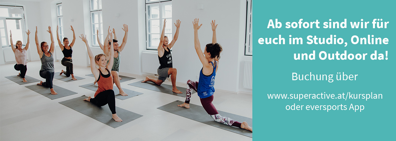 Yoga im Yogastudio Superactive