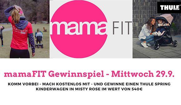 Gewinnspiel: Kostenloses mamaFIT-Training mit Kinderwagen-Verlosung am 29.9.